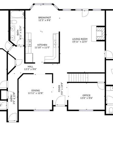 35 Riverside Drive - 2D Floor Plan