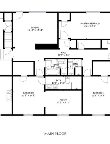 5102 Holston Drive - 2D Floor Plan