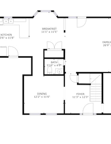 7513 Misty View Lane - 2D Floor Plan