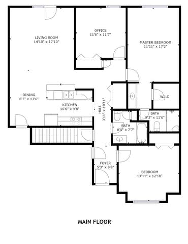 8877 Carriage House Way - 2D Floor Plan
